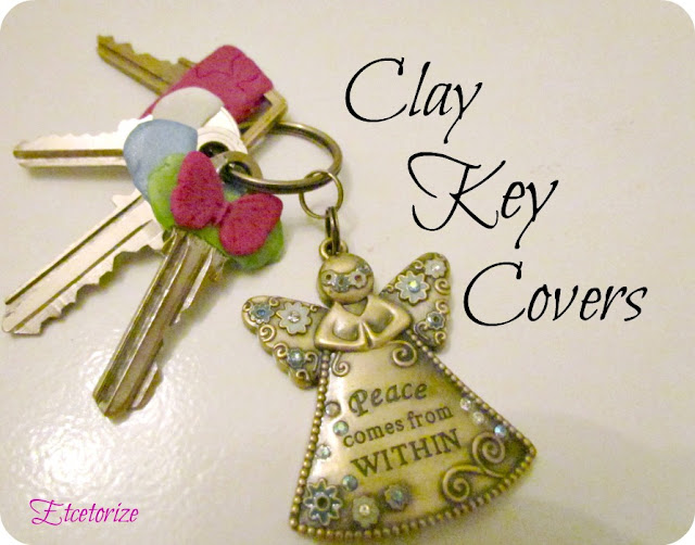 #polymer clay, #clay, easy clay project, DIY Key cover