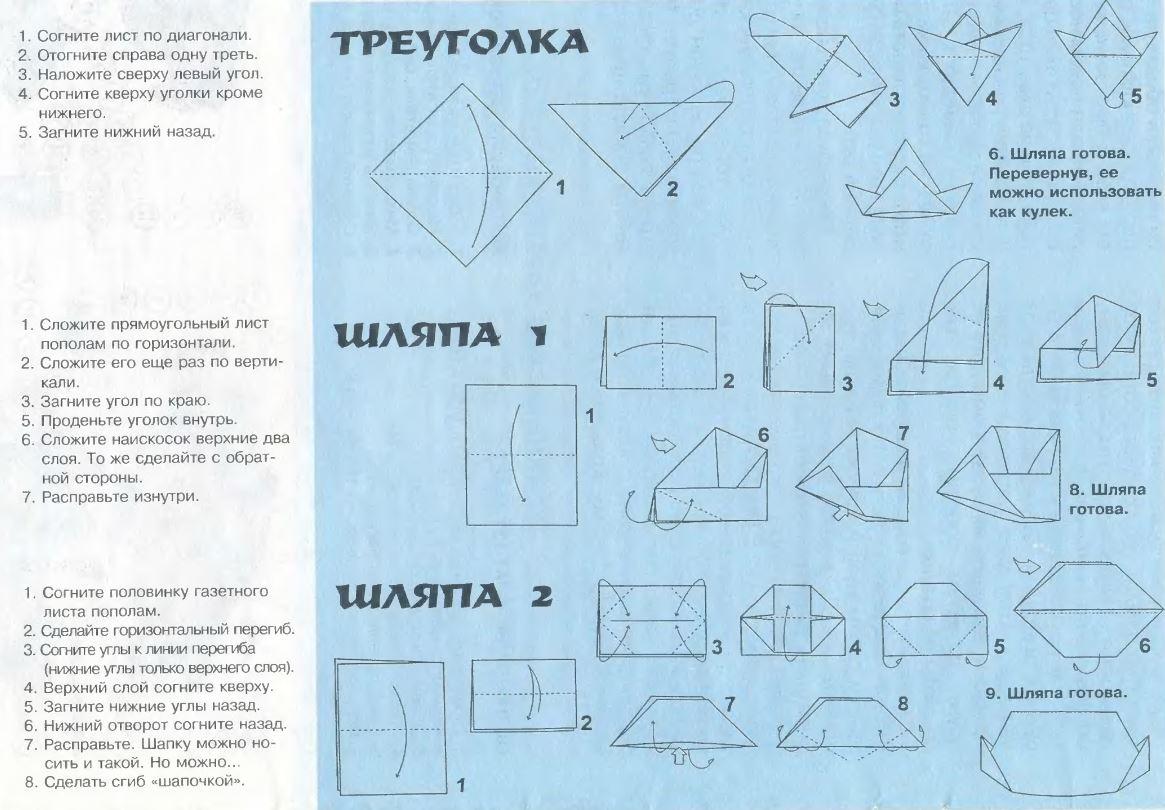 Как сделать из бумаги треуголку