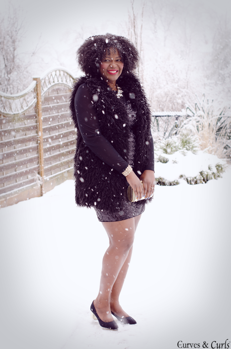 Winter wonderland- #plussize fashion inspiration #furvest #how to wear