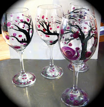 """Mulberry"" wine glasses"