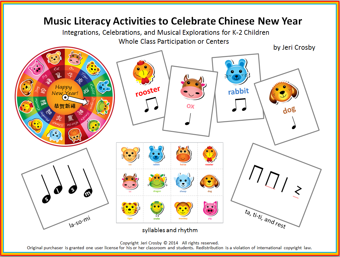 Music Literacy Acitivites to Celebrate Chinese New Year
