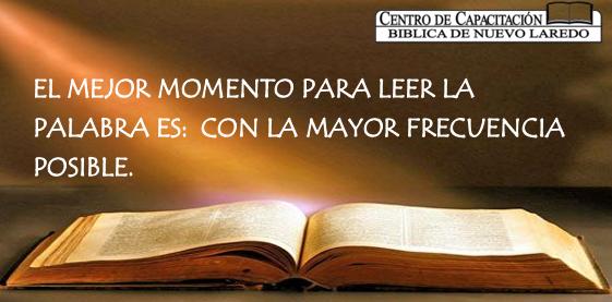 Lee la Biblia, es nuestro mejor alimento.