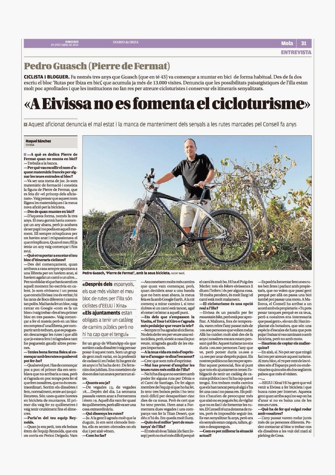 """Entrevista en """"Diario de Ibiza"""""""