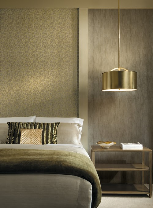Kmw interiors bling in the bedroom for Bedroom hanging lights
