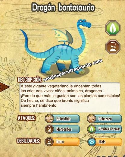imagen de las caracteristicas del dragon brontosaurio