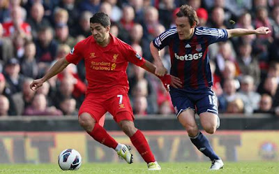 Hasil Pertandingan Liverpool vs Stoke City 7 Oktober 2012