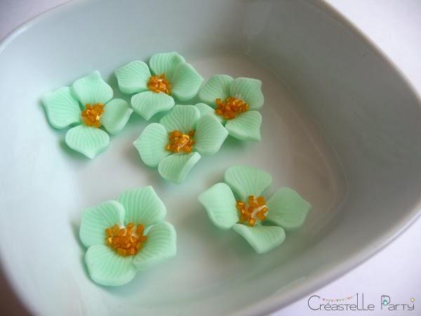 fleurs en pâte à sucre pour cake pops nutella