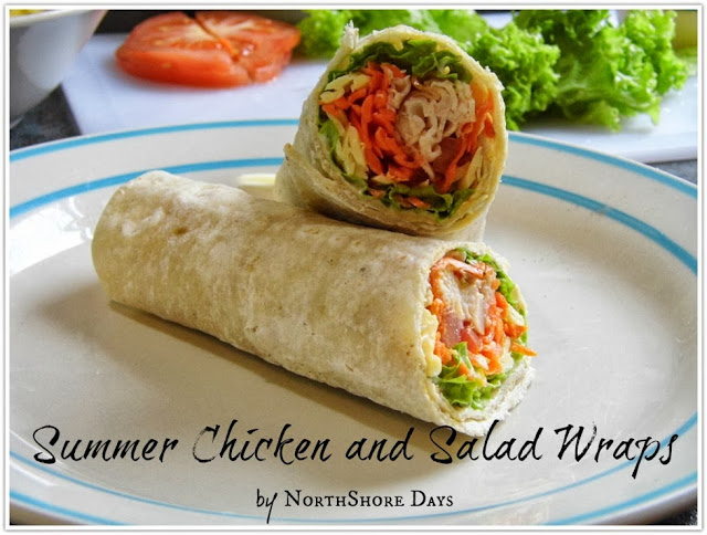 Summer Chicken and Salad Wraps