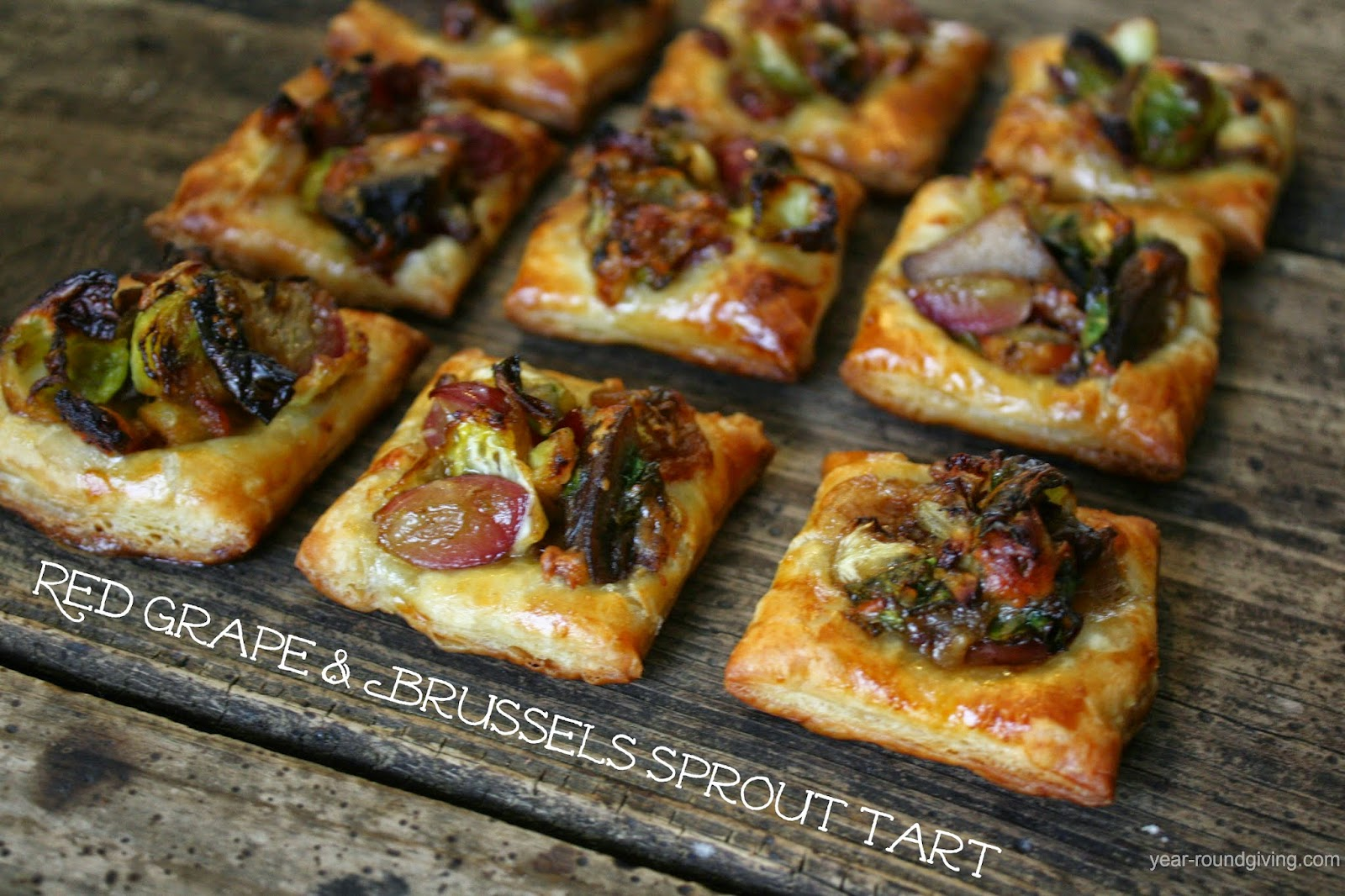 Red Grape & Brussels Sprout Tart