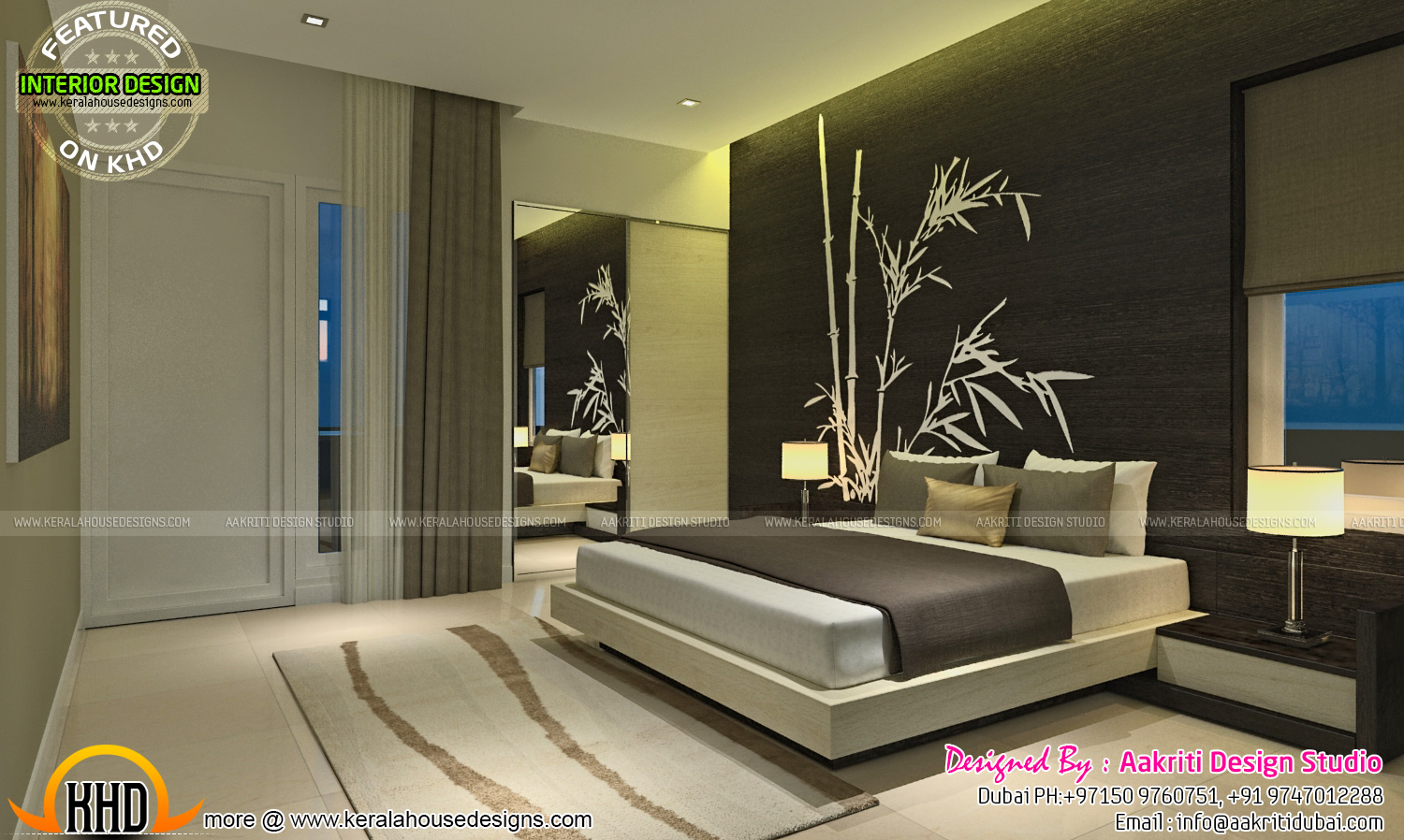 Master bedroom interior design kerala type for Master bedroom interior
