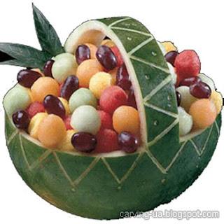 карвинг корзина с фруктами