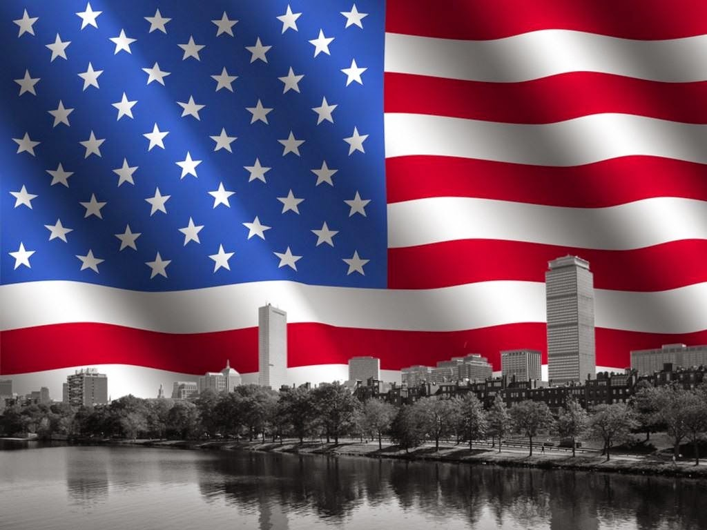 USA American Flag with New York City Desktop Backgrounds Images Wallpapers
