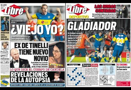 Tapa diario libre paula robles schiavi candela for Diario el show del espectaculo