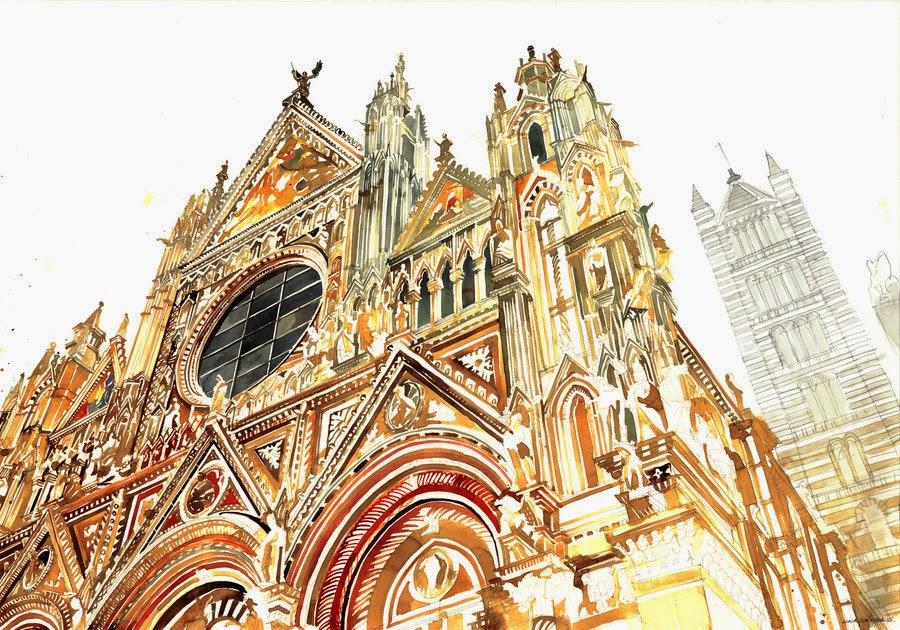 26-Siena-Maja-Wronska-Travels-Architecture-Paintings-www-designstack-co
