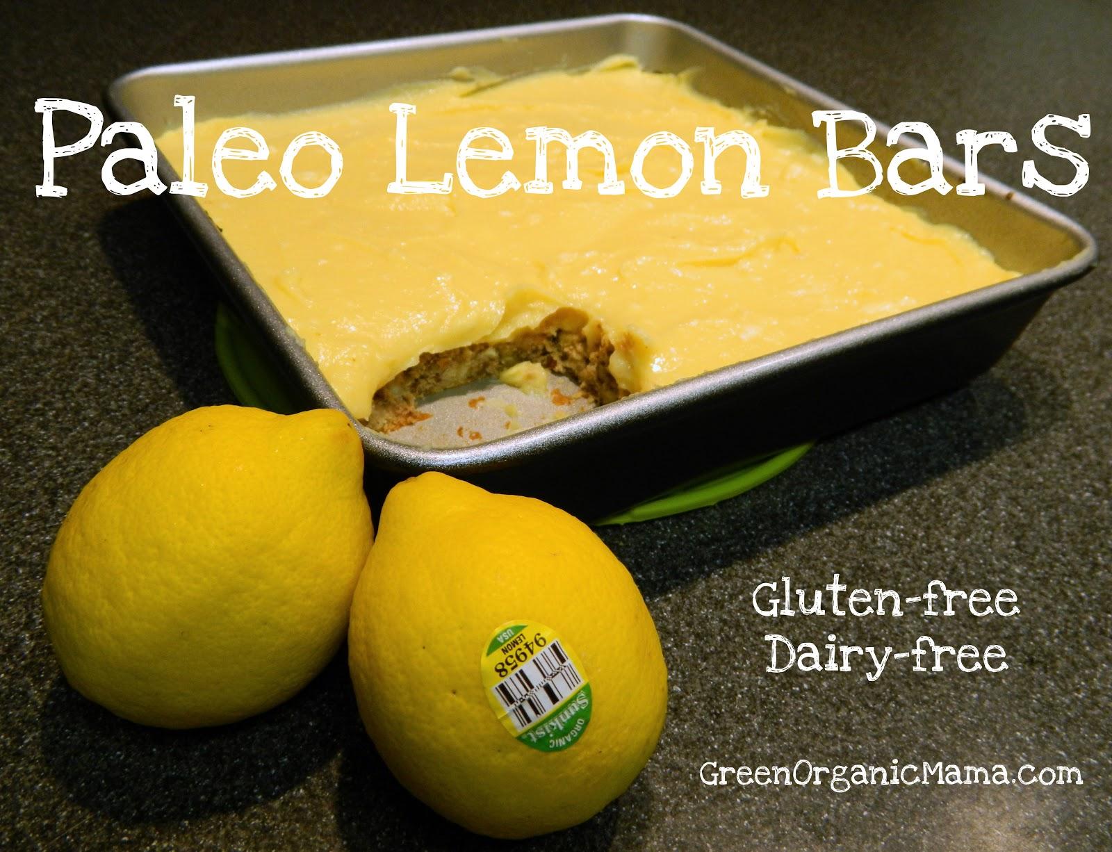 Paleo lemon bars gluten-free dairy-free