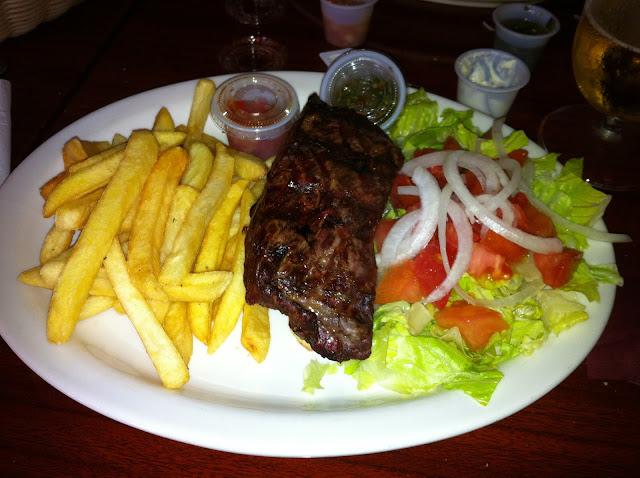 Refeição no Restaurante La Parrrilla