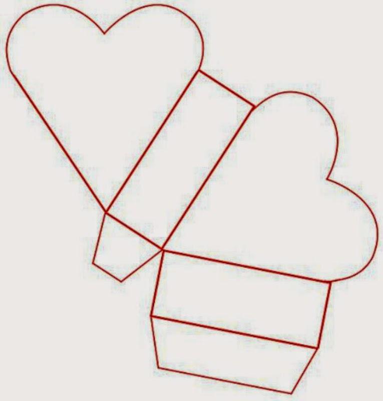 Caja abierta con forma de corazón