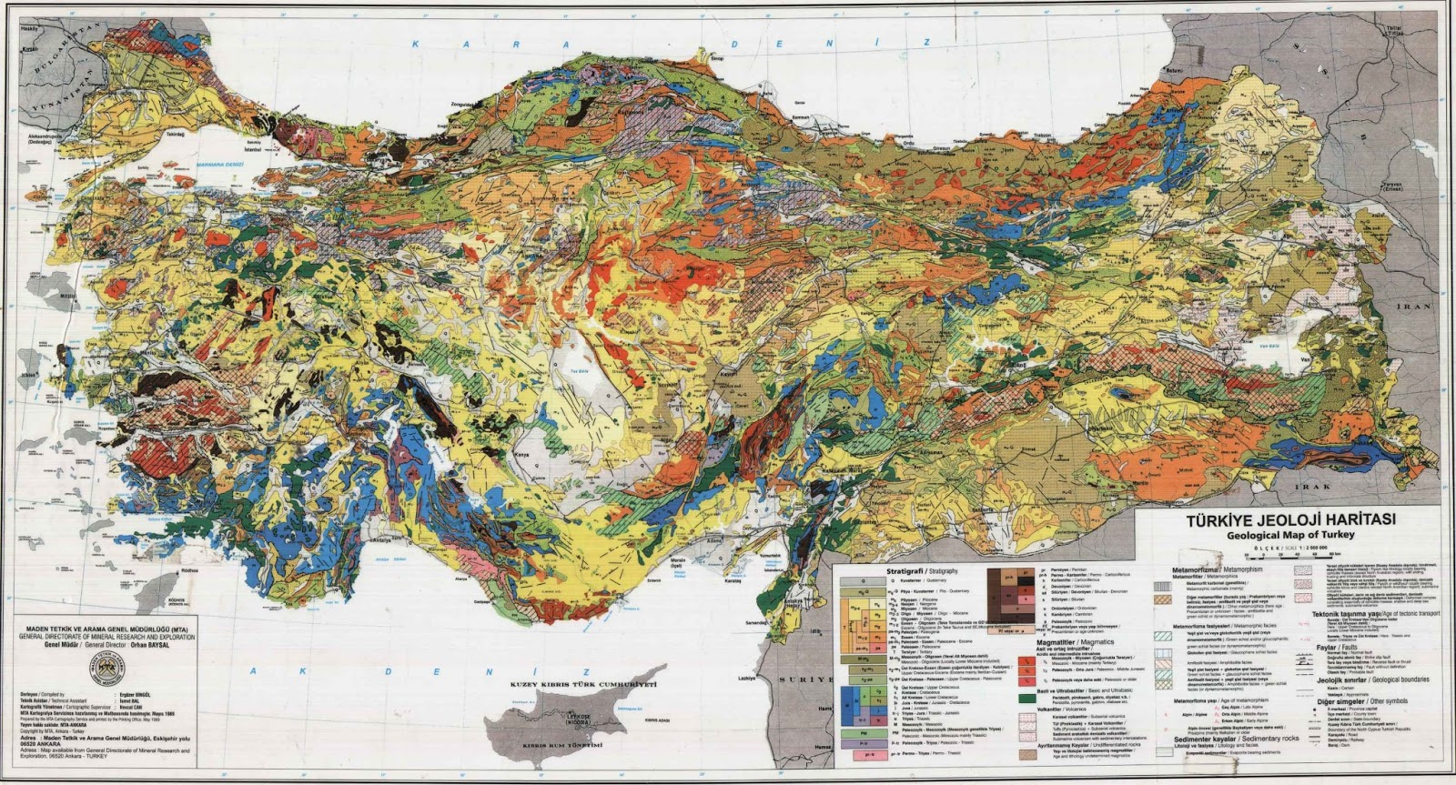 Geological Map of Turkey Geological Map of