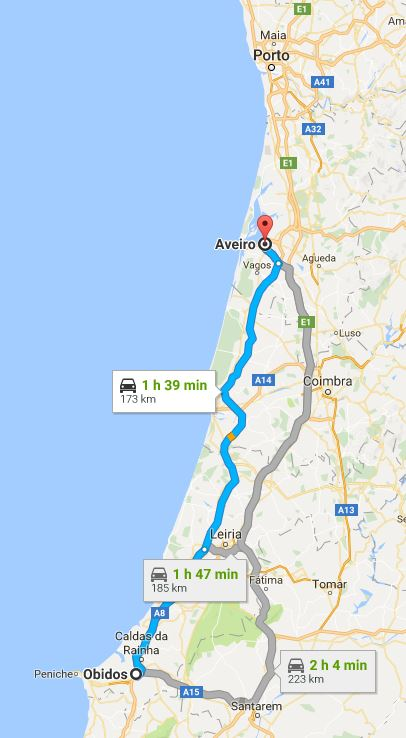 Tendency To Wander Off The Beaten Path In Portugal - Portugal map obidos