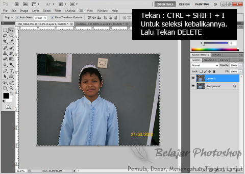 Belajar Photoshop | Tutorial Photoshop: Mengganti Background Pada Foto