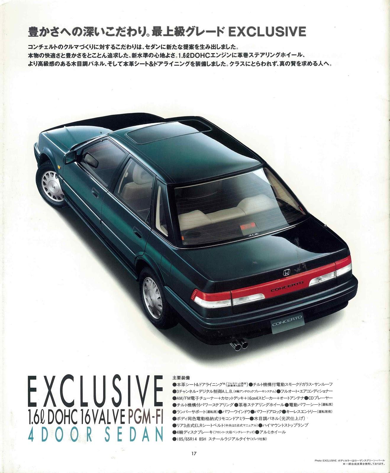 Honda Concerto, japońskie samochody, auta z lat 90