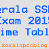 Kerala SSLC Exam 2015 Time Table