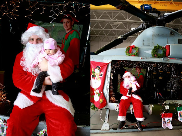 Lucy meets Santa.. Marine Corps style