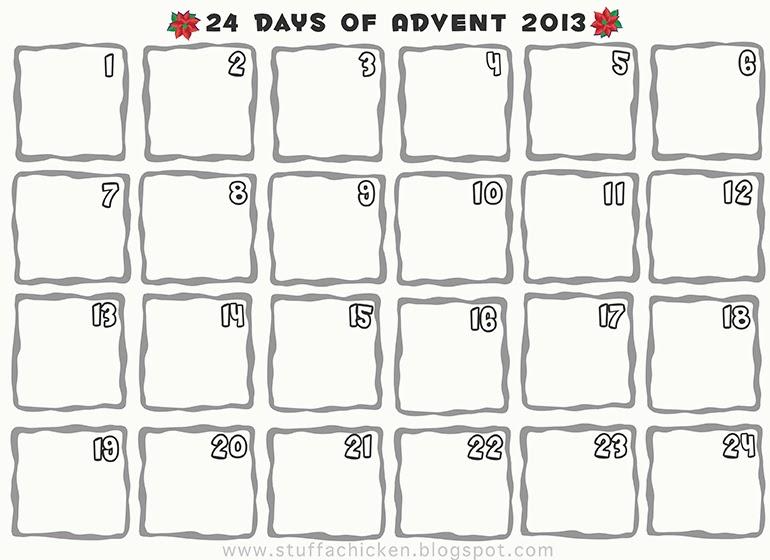 Gonna Stuff A Chicken Completed Advent Calendar