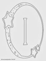 Mewarnai Gambar Huruf Alfabet I Bergaya Bulan Bintang