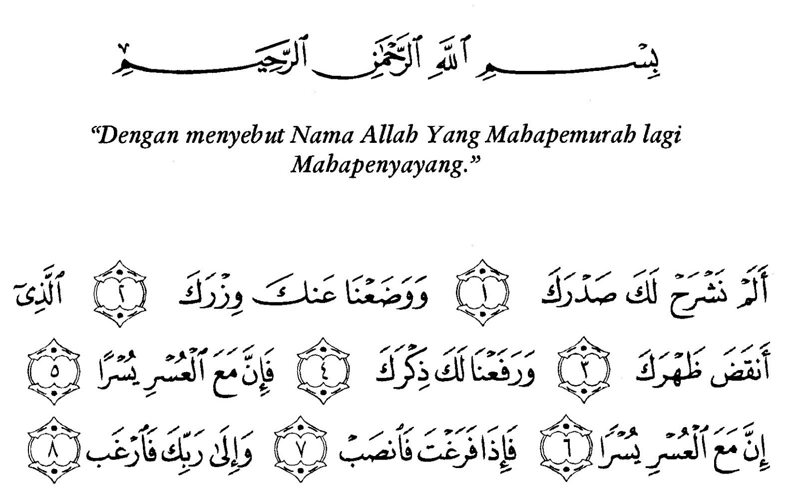 Kandungan Doa Dalam Surah Al Insyirah Yang Jauh Jadi Dekat