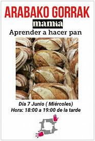 El miércoles, día 7 de junio, de 18:00 a 19:00 aprender a hacer pan en Mamia