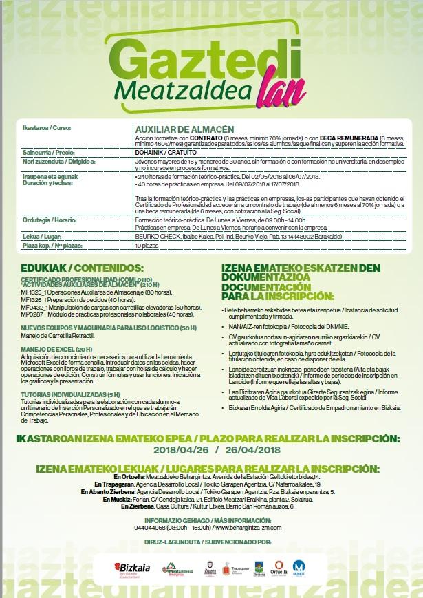 GAZTEDI LAN MEATZALDEA 2018