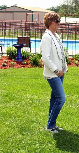 Mood Fabric's silk-wool twill jacket using Papercut Bellatrix pattern for a tuxedo jacket look