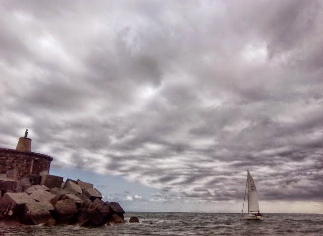 Salida del puerto Zumaia