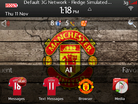 mybbcurve9300, tema blackberry manchester united