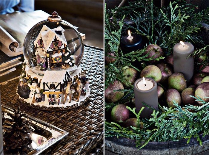 decoracion navidad  casa de campo nordica-adornos navideños