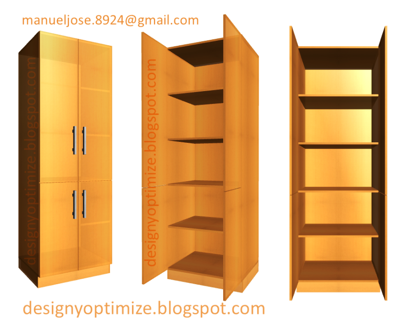 Dise o de muebles madera crear estante alacena despensa Muebles de cocina en madera mdf
