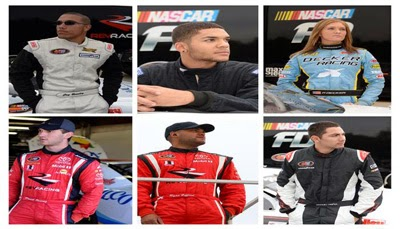 Jay Beasely, Devon Amos, Paige Decker, Sergio Peña, Daniel Suarez, and Ryan Gifford – NASCAR Diversity Drivers