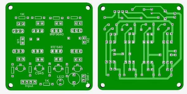 PCB Driver motor mosfet dengan software diptrace