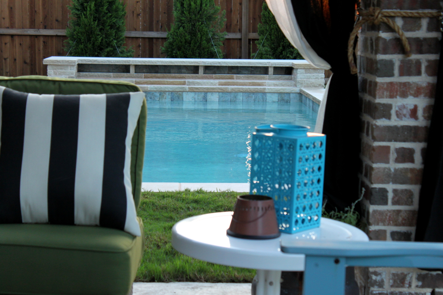 pixelimpress: the backyard and pool reveal! on