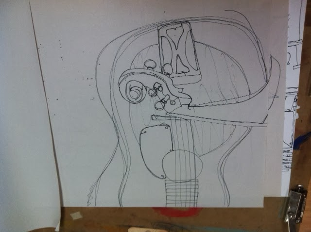 Contour Line Drawing Guitar : Katelyn s instruments contour lines