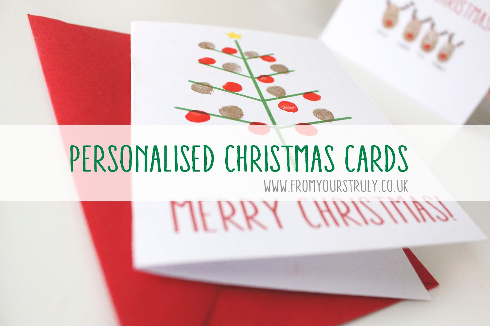 Christmas D.I.Y 2 | Personalised Christmas Cards - From Yours Truly