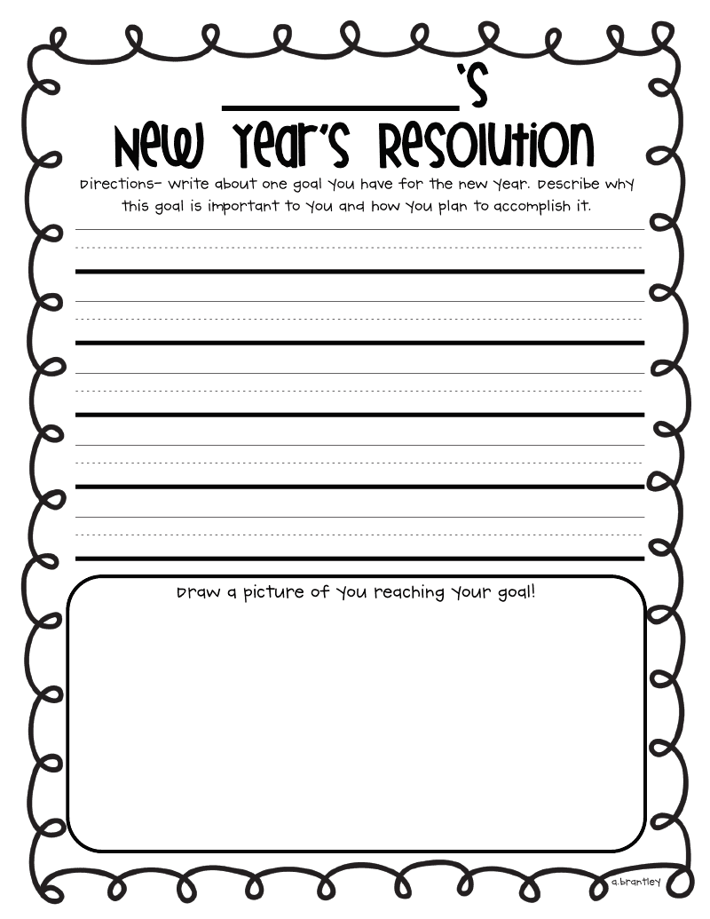 New years resolution essay