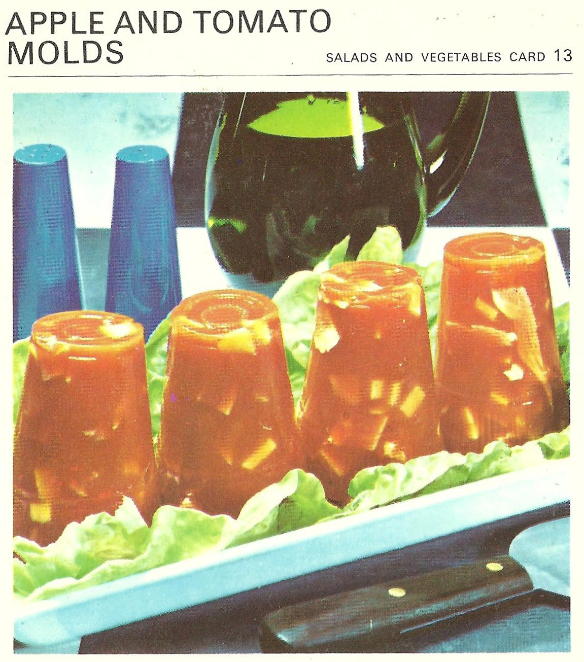 Bad and ugly of retro food canadian gut bombs recipe cards 10 oooh how generous everybody gets their own apple and tomato mold no more fighting for the last bite it ends now with these individual molds forumfinder Gallery