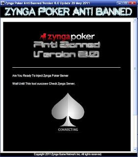 Melindungi akun anda dari Banned Zynga Poker dengan Zynga Poker Anti Banned Version 8.0