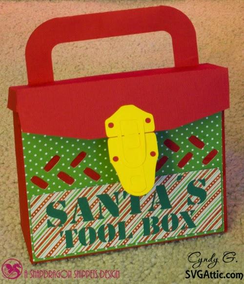 3d paper Santa's tool box