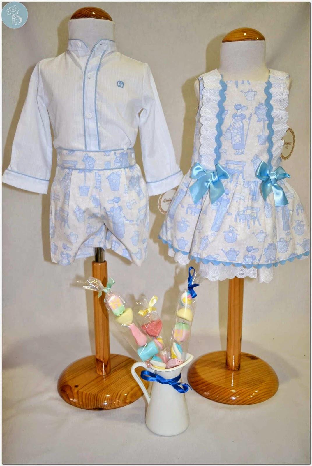 Quinper pareja conjunto niño y vestido colección Garden en Blog Retamal moda infantil