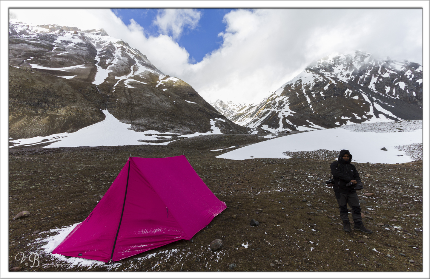 Camping at Nithal Thach , Lamkhaga pass trek