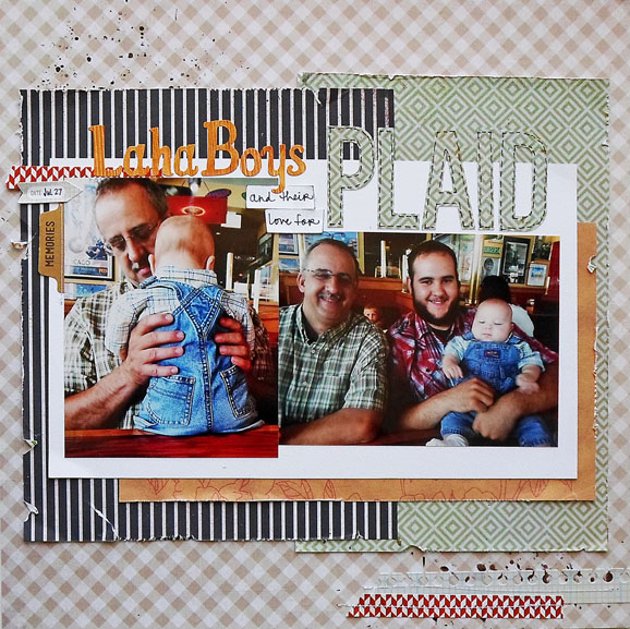 Plaid scrapbook layout