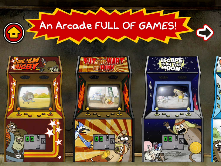 Just A Regular Arcade - A Sweet Suite Of Regular Show Games With Mordecai And Rigby Free App Game By Cartoon Network